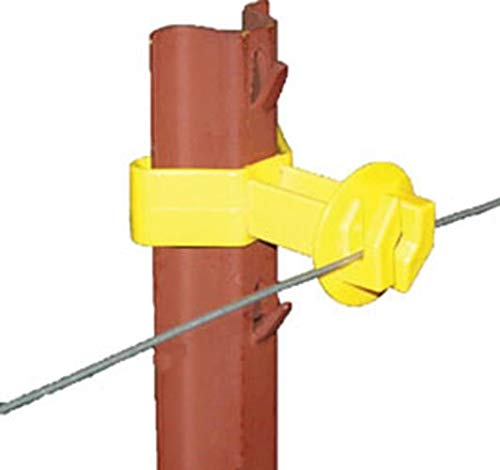 Dare Products SNUG-SU-25 184861 Chain Link U Post Insulator (25 Pack), Yellow