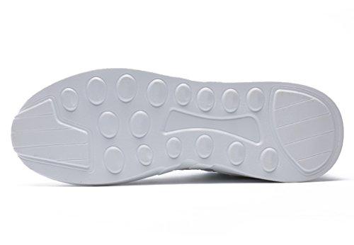Da Unisex Ginnastica Outdoor Corsa Mesh Tennis Gudeer Uomo Shoes Adulto Donna Respirabile Scarpe Trekking Sport Basse Running Fitness 716bianco Sportive Sneakers Uqn5I