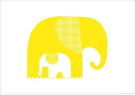 Ikea Bild Affiche Les éléphants Jaunes 70x100 Cm