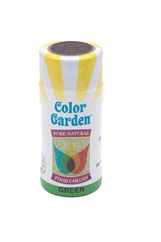 Color Garden Naturally Colored Sugar Crystals, Green 3 oz