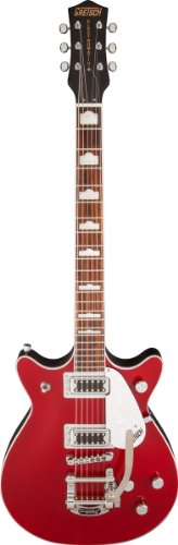 - Gretsch G5441T Electromatic Double Jet Electric Guitar with Bigsby Tailpiece, 22 Frets, Rosewood Fretboard, Maple Neck, Passive Pickup, Gloss Polyester, Firebird Red