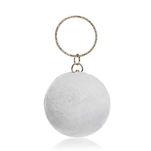 Del Cute Bolso Yy4 Kervinfendriyun Manera Small Señoras Mini Bola Banquete De White Suave La Anual Las Reunión 1RCqYw