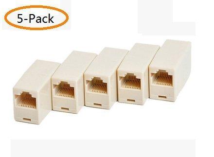 A-Smile@ RJ45 Coupler,Cat5 Coupler,Cat5 5e 6 Ethernet Cable 8P8C Extender Connector (Female to Female) Straight Modular Inline (Cat5 Modular Connectors)