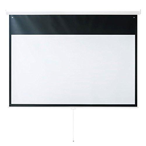 サンワサプライプロジェクタースクリーン100インチ(16.9吊り下げ壁掛け収納大型)PRS-TS100HD B07BW73CPY