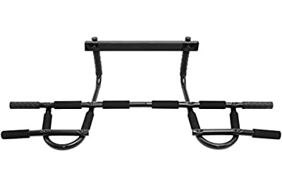 ProSource Multi-Grip Chin-Up/Pull-Up Bar, Heavy Duty Doorway Trainer for Home Gym from ProSource Discounts Inc