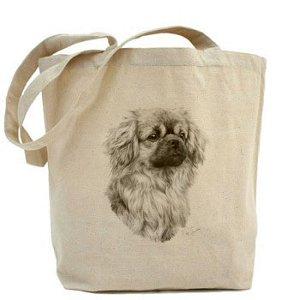 pour Toile Sibley en tibétain Sac coton naturel Shopper chien Tout Fourre Terrier Mike Fq1tfIw