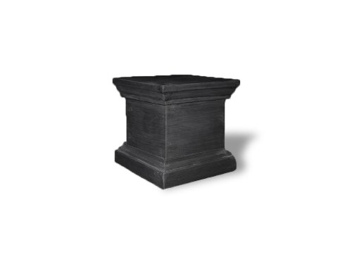 Amedeo Design ResinStone 1900-9C Framed Pedestal, 12 by 12 by 16-Inch, Charcoal