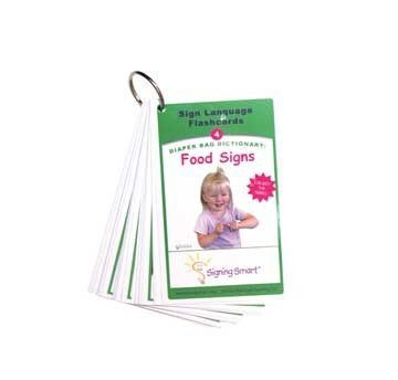 (Harris Communications B975 Signing Smart Diaper Bag Flashcards - Food Signs )
