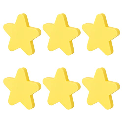 WOLFBUSH Soft Rubber Knobs 6Pcs Cartoon Star Cabinet Knobs Silicone Door Knobs Cute Knobs for Cabinets,Doors, Dresser, Kitchen Cabinets and -