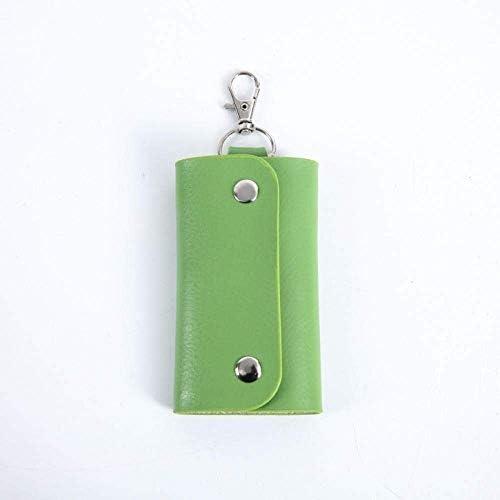 車のキーケース、男性と女性のための適切なレザーキーケース多機能レザーキーケースユニバーサル (Color : Green)