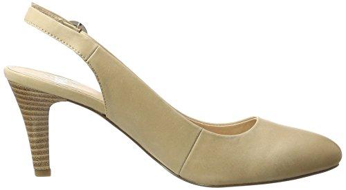 Caprice 29606, Sandalias con Cuña para Mujer Beige (Beige Nubuc)