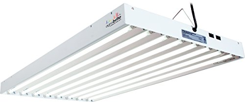 Hydrofarm Agrobrite FLT48 T5 Fluorescent Grow Light System, 4 Foot, 8 Tube