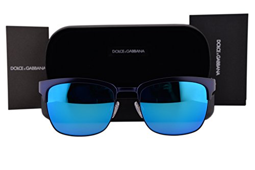 Dolce & Gabbana DG2148 Sunglasses Matte Dark Blue w/Green Light Blue Mirror Lens 128025 DG - Sale Gabbana Mens Dolce And