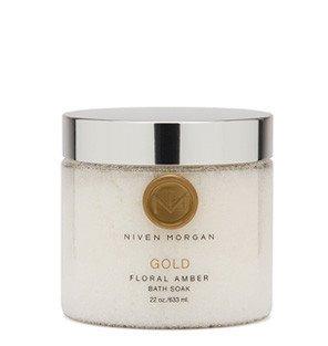 Price comparison product image Niven Morgan Gold Floral Amber Bath Soak, 22 fl.oz/633ml.