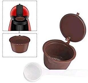 HYVVC Cápsulas Recargables con Filtro para cafetera Dolce Gusto, Incluyen Cuchara Blanca (Color marrón) (1 capsula): Amazon.es: Hogar