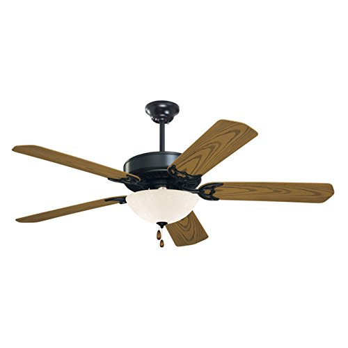 Emerson Ceiling Fans CF652ORB Summer Night 52-Inch Indoor Outdoor Ceiling Fan, Damp Rated, Light Kit Adaptable, Oil Rubbed Bronze Finish