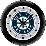 Seattle Mariners MLB Team Neon Everbright Wall Clock