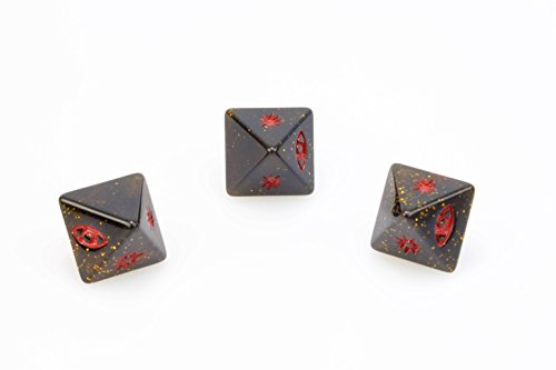 Star Wars X-Wing Miniatures Sparkly Black Red Attack Dice x 3 - Exclusive Miniature