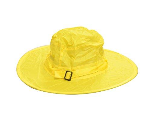 Twist-and-Fold Childrens Rain Hat, 13 in diameter brim, Yellow