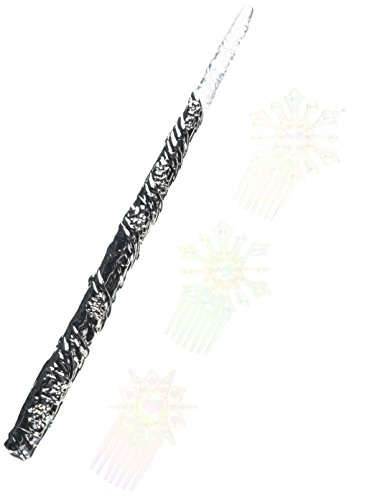 CINDERELLA LIVE ACTION 82062 Fairy Godmother Enchanted Wand and Combs Set Costume (Disney Magic Wand)