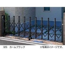 YKKAP 伸縮ゲート レイオス5型(細桟) 片開き 32S H11 PGA-5  ホワイト B00ALSA7HW