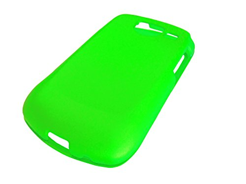 For Samsung Brightside U380 / SCH-U380 Phone Cover Hard Faceplate Case Accessories + Happy Face Phone Dust Plug (Neon Green) (Faceplate Face Happy)
