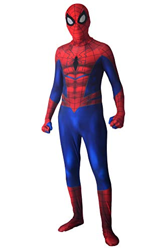 Bailu Ultimate Spiderman Bodysuit Savage Spider Cosplay Suit Dress Up Superhero Pretend Play,180