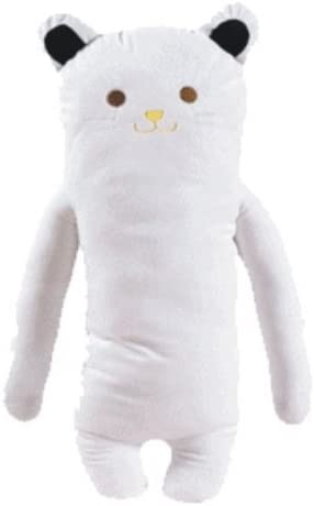 white cat body pillow plush toy comfort