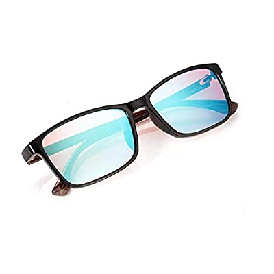 Zryh Color Blind Glasses Red Green Color Blindness Full Black Frame Glasses for Formal Occasions