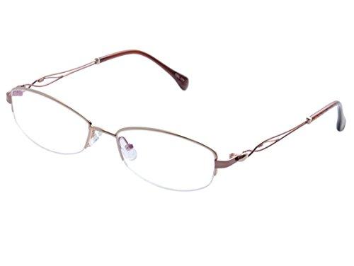 De Ding Women Metal Half-framed Optical Myopia Glasses Frame (gold, - Eyeglasses Gold Framed