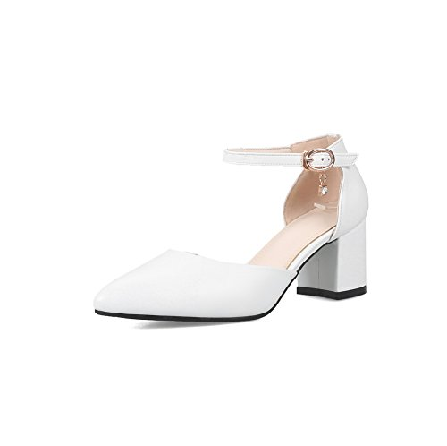 Blanc Blanc 36 Compensées Femme 5 AdeeSu Sandales AWt5qn8xC