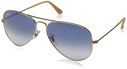 a66adeecf527d Ray-Ban Aviator Large Metal Sunglasses RB3025 001 3F-5814 - Arista Crystal  RB3025-001-3F-58 (B002E62FGA)