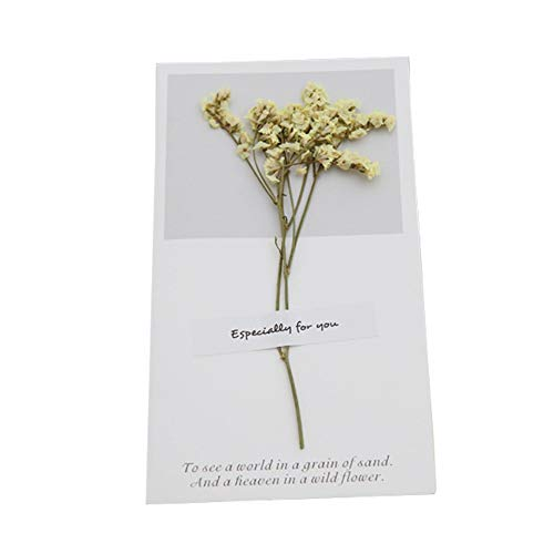HURZ Valentine's Day Real Flower Greeting Card Home Garden Festive Party Supplies Event Party Cards Invitations 8 from HURZ