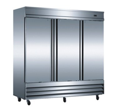 """CFD-3RR 81"""" Three Section Solid Door Reach in Refrigerator - 72 cu. ft."""