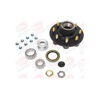 5 on 4.50 w//EZ Lube Cap For 3,500 lb axle Dexter Axle Hub and Drum Kit K08-247-94