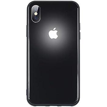 brand new f5198 e72ec Yacn iPhone X Cases led Logo Light iPhone case Glowing Light Up Logo Case  Illuminate Cover (Glass Black, iX/Xs)