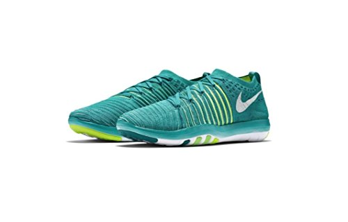 Nike Womens Free Transform Scarpe Da Allenamento Flyknit Clear Jade / White-rio Verde Teal-voltage