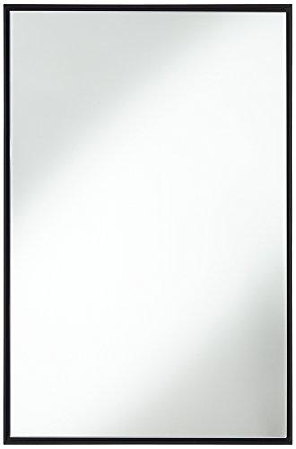 "Andrew Black 24"" x 36"" Rectangular Mirror"