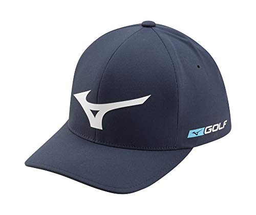 Mizuno Tour Delta Golf Hat, Navy-White, Small/Medium (6 3/4