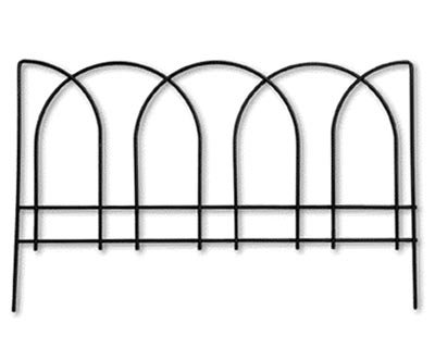 Panacea Arches Garden Edge, Black, 15''H, Pack of 12 by BestNest
