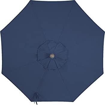 secret garden home goods 9ft 8 ribs market umbrella replacement canopy sunbrella. Black Bedroom Furniture Sets. Home Design Ideas