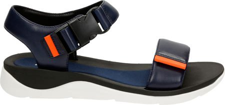 Clarks Women's Caval Dixie Navy Leather Sandal 8.5 D - Wide c1OmOHKx
