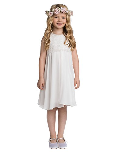 Paisley of London, Tilly Ivory Occasion Dress, Formal Flower Girls Dress, 3-4 Years -