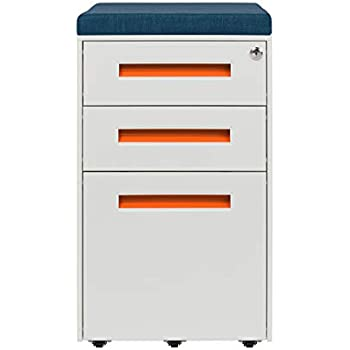 Amazon Com Stockpile Seated 3 Drawer Mobile File Cabinet