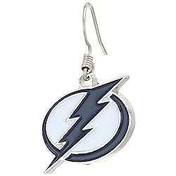 NHL Tampa Bay Lightning Chrome Dangle Earrings