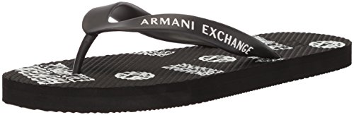 Armani Exchange Men's Printed Graphic Flip-Flop Black xhht41OkV