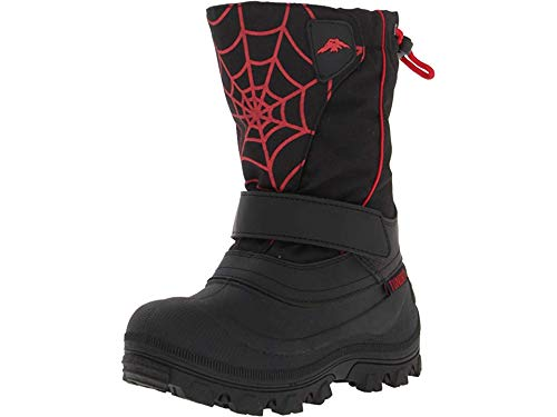 (Tundra Boots Kids Baby Boy's Quebec Wide (Toddler/Little Kid/Big Kid) Black/Red/Web 6 W US Toddler)