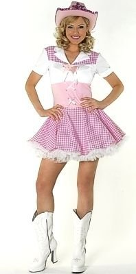 Dolly Parton Cowgirl Fancy Dress Costume & Hat UK 8-10 by Parties Unwrapped