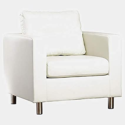 Fine Amazon Com Faux Leather Accent Chair With Square Arms Ibusinesslaw Wood Chair Design Ideas Ibusinesslaworg