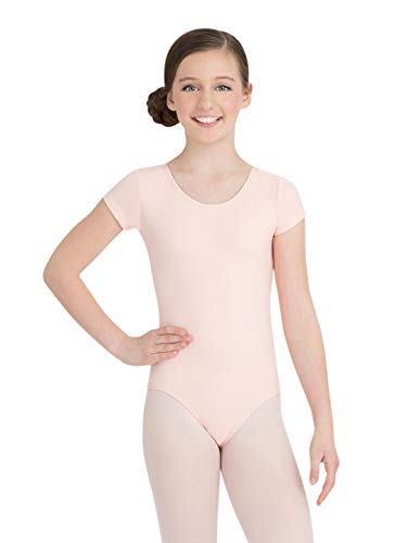 Capezio Youth Short-Sleeve Leotard, Ballet Pink-SM ()